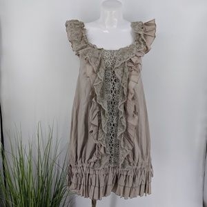 Anthropologie Ryu boho peasent over sized dress